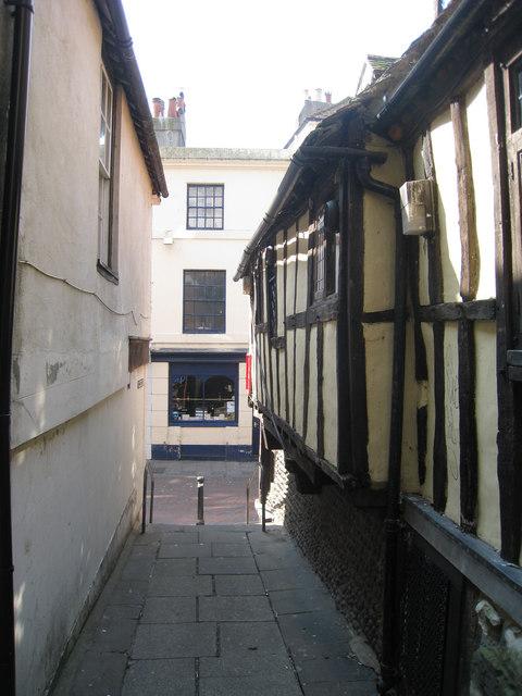 Passageway beside Ye Olde Pumphouse