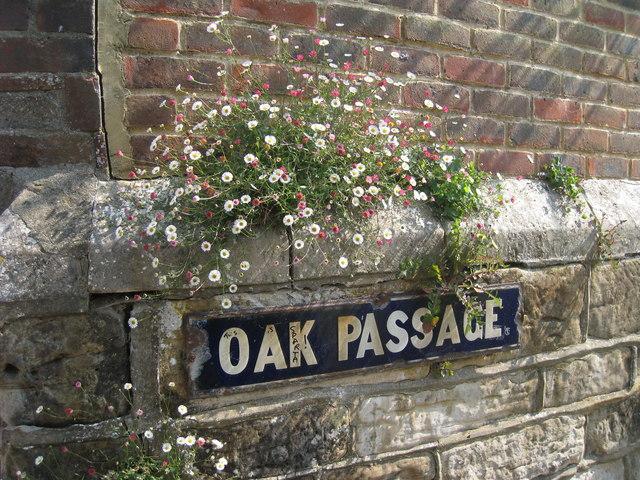 Oak Passage Sign