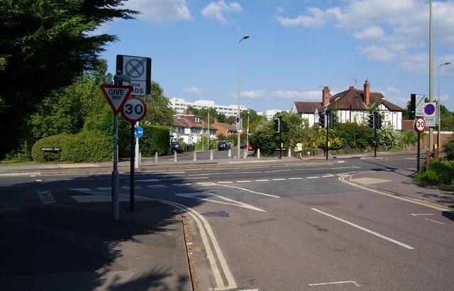Where Jack Straws Lane meets Headley Way