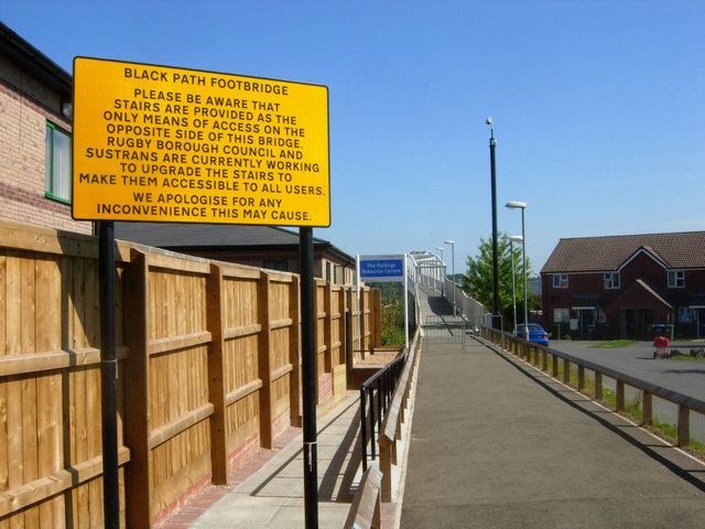 Approaching Black Path Footbridge