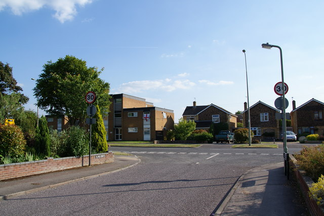 Where Elms Drive meets Cherwell Drive