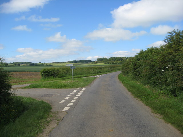 Road Junction near Salmonby