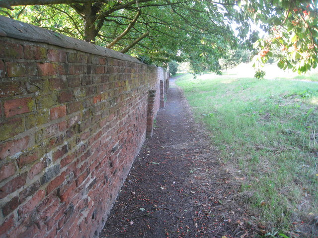 Wall by Horkstow Hall