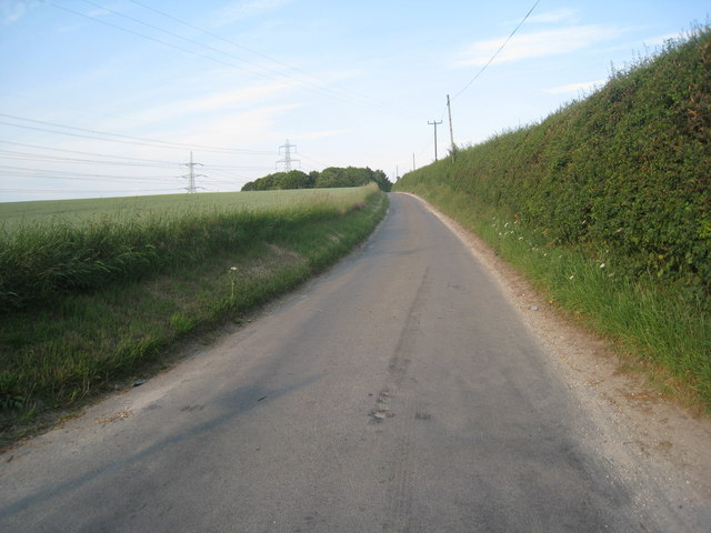 The road over Horkstow Wolds