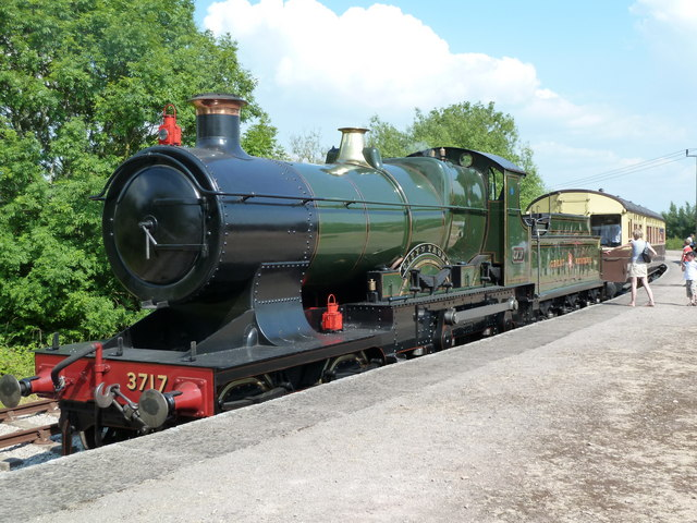 City of Truro and GWR autotrailer at Lydney Junction Station.