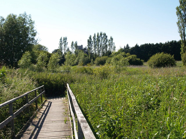 Footpath Boardwalk near the River Frome
