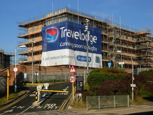 Travelodge under construction, Rugby