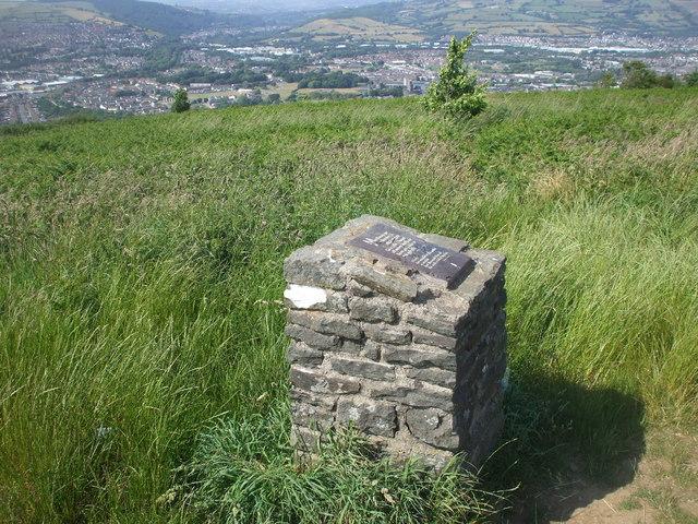 Small stone pillar, Caerphilly Common