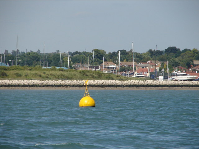 Yellow Buoy at Hamble Spit