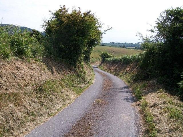 Country road east of Maesoglan