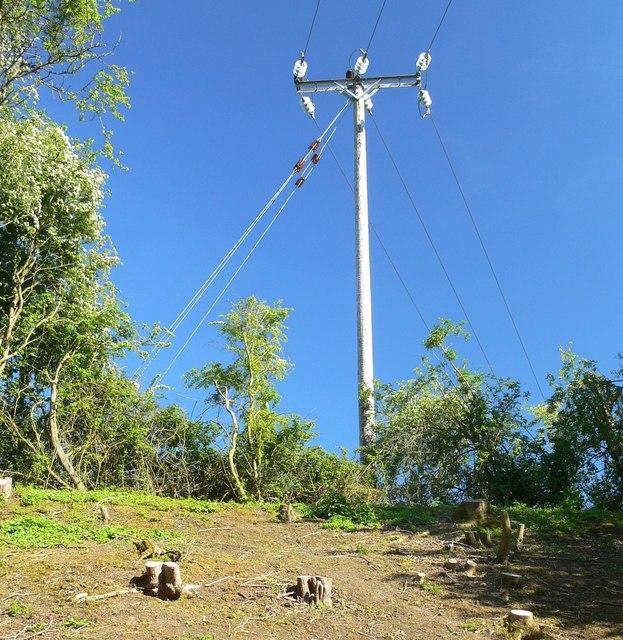 Electricity pole along the Jubilee Walk