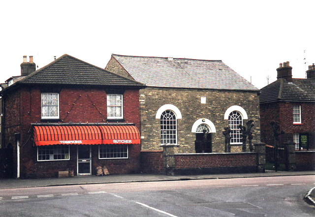 Tompkin's Butchers and Gospel Hall, Hanslope