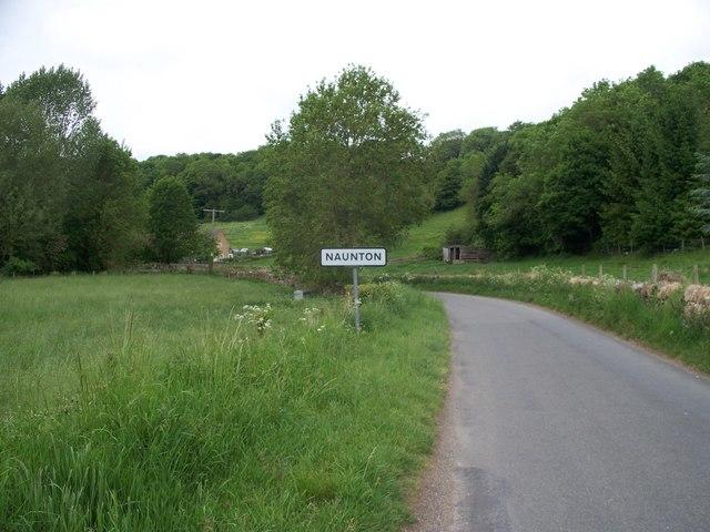 The road into Naunton