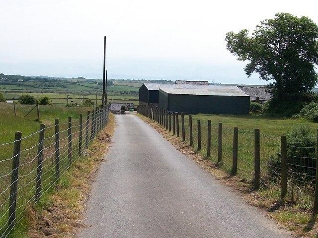 The Mochras Farm access road