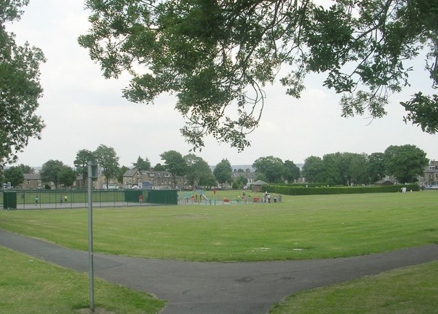West Park Recreation Ground - viewed from Springroyd Terrace