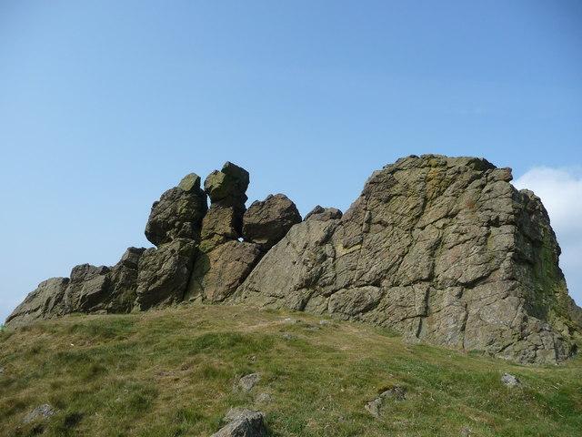 Three Fingers Rock on Caer Caradoc