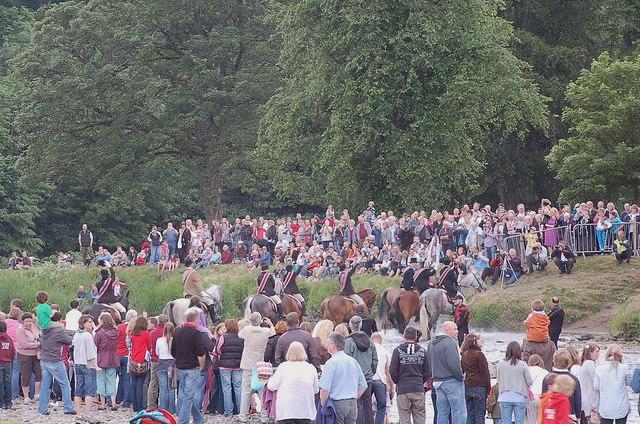 Fording the Tweed, Peebles Beltane Festival