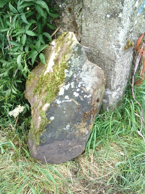 Boundary Stone? in gateway beside B6542