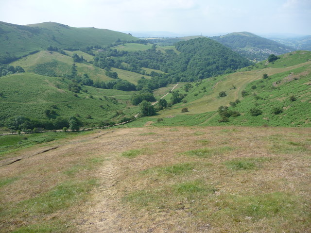The Cwms track from Caer Caradoc