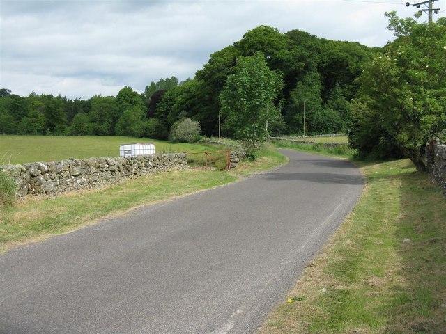 Country road at Woodhead