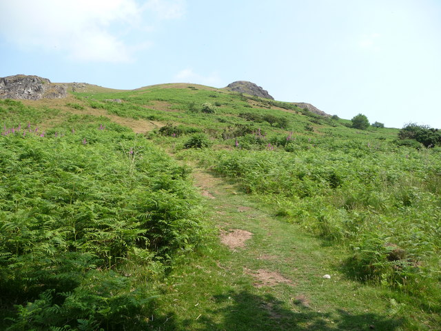 Caer Caradoc from the Cwms valley