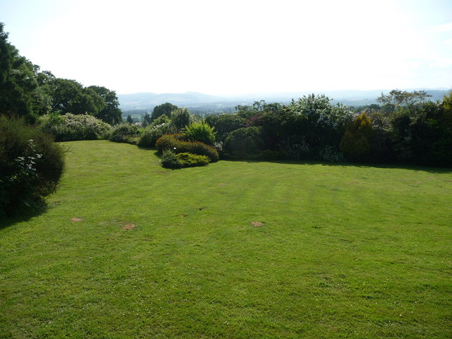 Gardens on Angel Bank with distant views westwards
