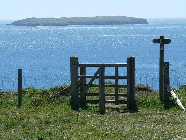 Gate onto the Pembrokeshire Coast Path