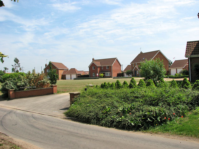 New houses in Church Meadow, Pentney