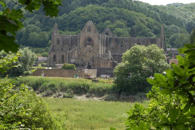 Tintern Abbey from the Offa's Dyke footpath