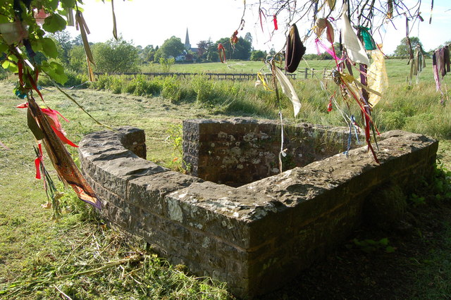 Well-dressing in Trellech, Monmouthshire