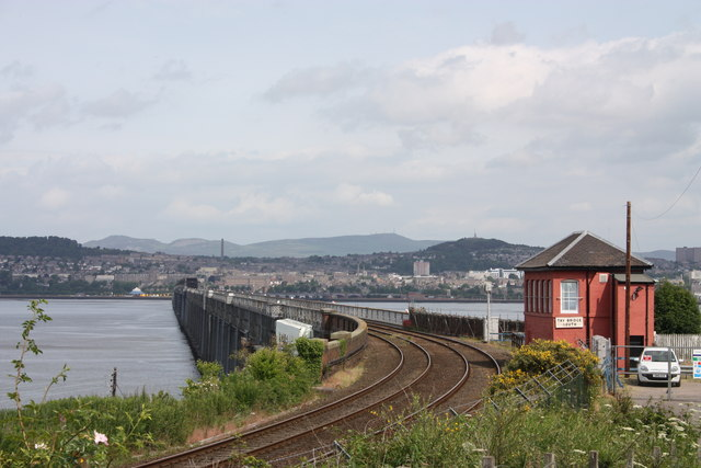 The Tay Bridge from Wormit