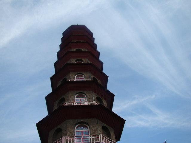 Looking up at the Pagoda