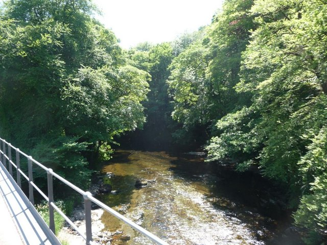 River Dart downstream of railway bridge