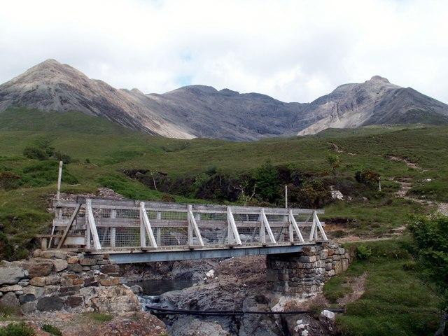 Footbridge over Allt Coire na Banachdich