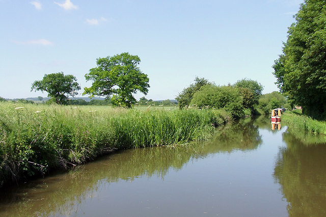 Trent and Mersey Canal east of Handsacre, Staffordshire
