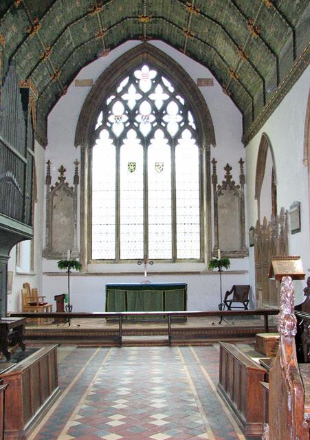 St Botolph's church in Grimston - the chancel