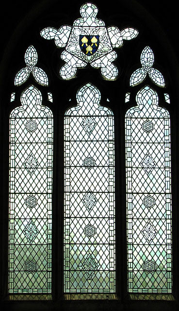 St Botolph's church in Grimston - modern window