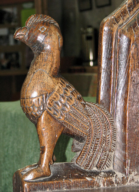 St Botolph's church in Grimston - the cockerel