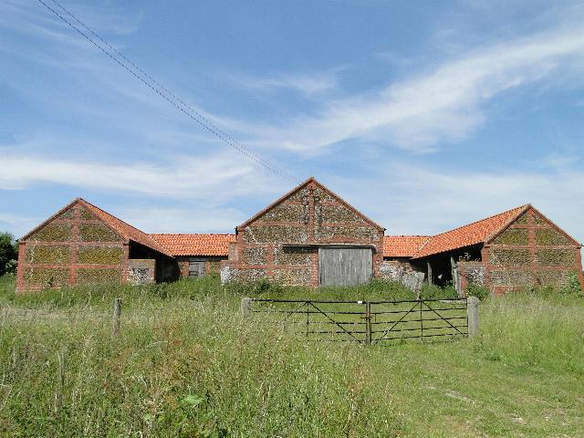 Range of farm buildings at Flitcham, Norfolk