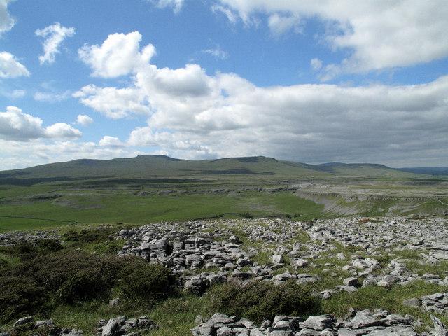 Limestone Pavement Near to Trig on  Moughton