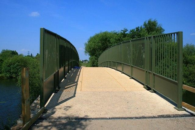 New footbridge from the Trent