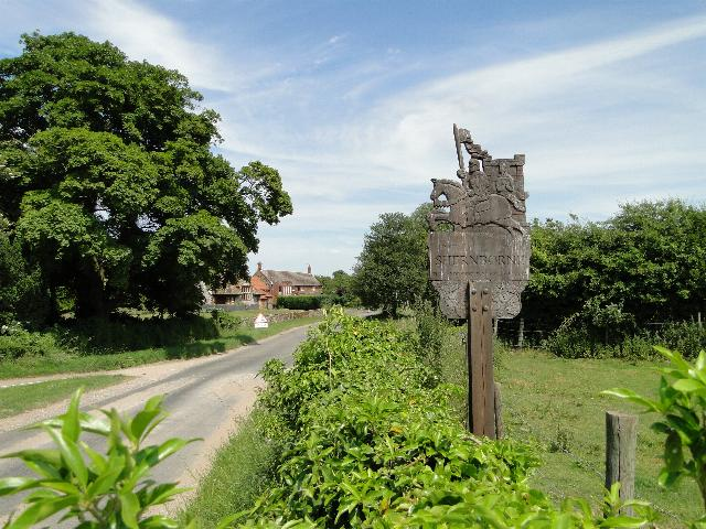 The Village Sign at Shernborne, Norfolk