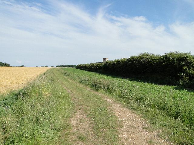 Footpath to Tattersett church, Norfolk