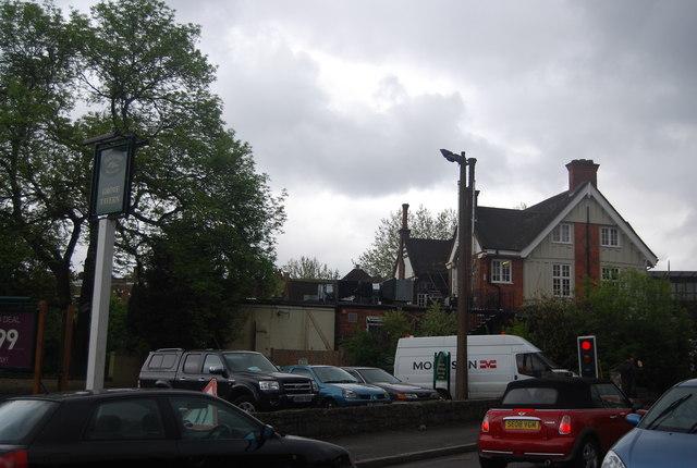 Car park, Grove Tavern, Dulwich Common
