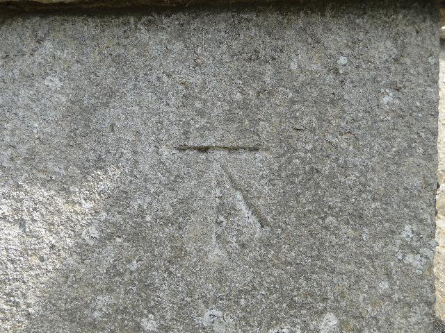 Bench Mark at Pentney church, Norfolk
