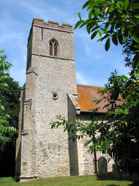 The tower of St Andrew's church in Congham