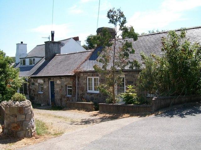 Traditional cottages off Ffordd Pedrog
