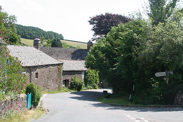 Holne: old barns