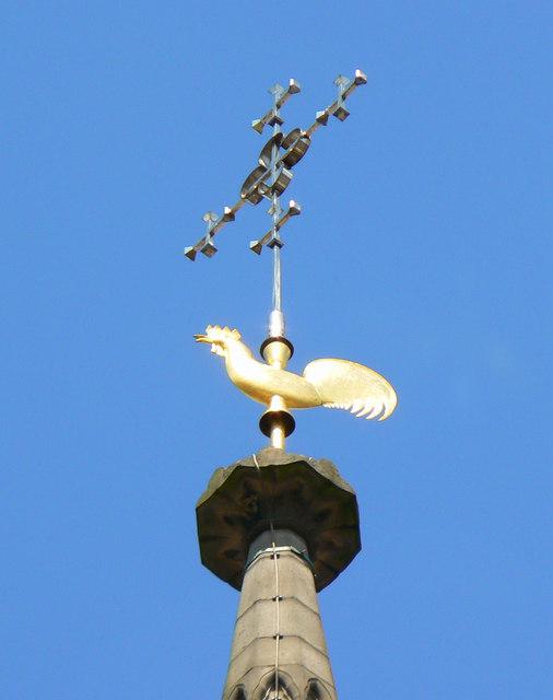 Weather cock, Church of St Martin, Birmingham