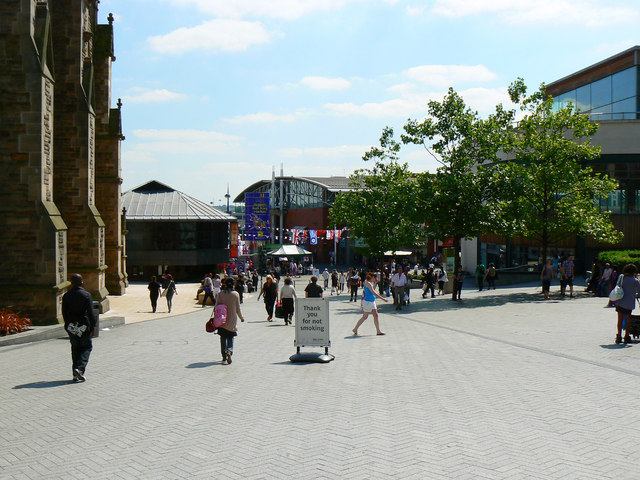 A view south from the Bullring, Birmingham